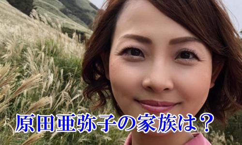 原田亜弥子の家族は?旦那はイケメンで子供は娘が1人【顔画像】